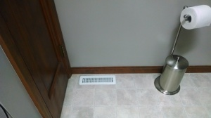 After. The duct was already located between the floor joists just behind the bathroom closet. It was a pretty easy fix.