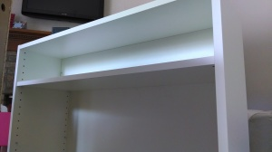 The false-back shelf.