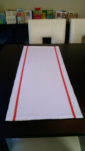 The result was two table runners, each 3' long.