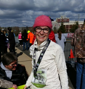 I started crying immediately after crossing the finish line.